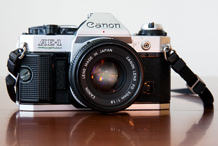 An example of a Canon AE-1, via Flickr.