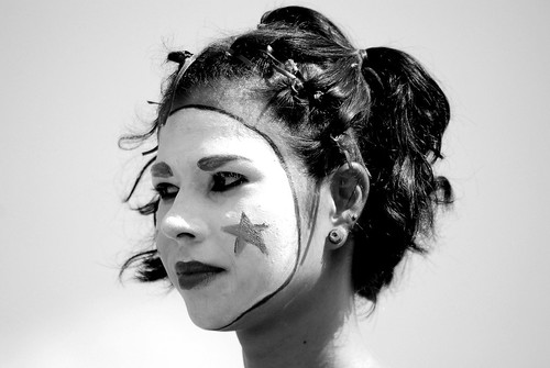 Clown in B&W (­Laila Costa)