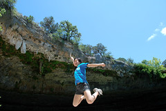 Mary jumps!