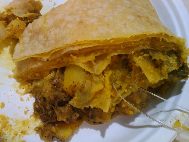 Curry Chicken Roti   F...
