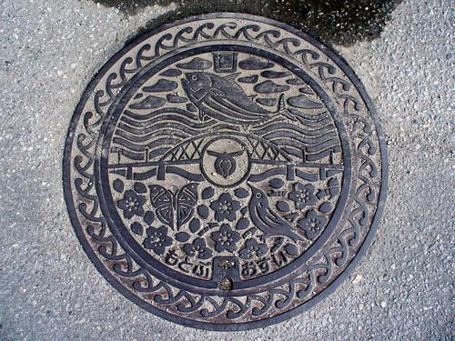 Motobu town, Okinawa pref manhole cover(沖縄県本部町のマンホール)