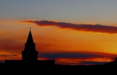 Fire in the Sky - Sunset, Dornoch Cathedral