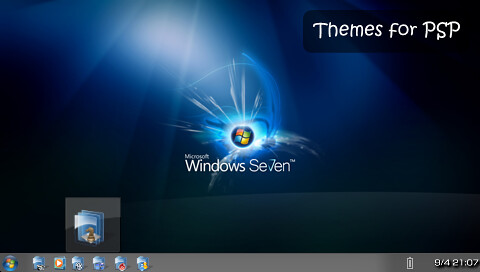 Free PSP Themes: Windows 7 Beta | PSP Theme