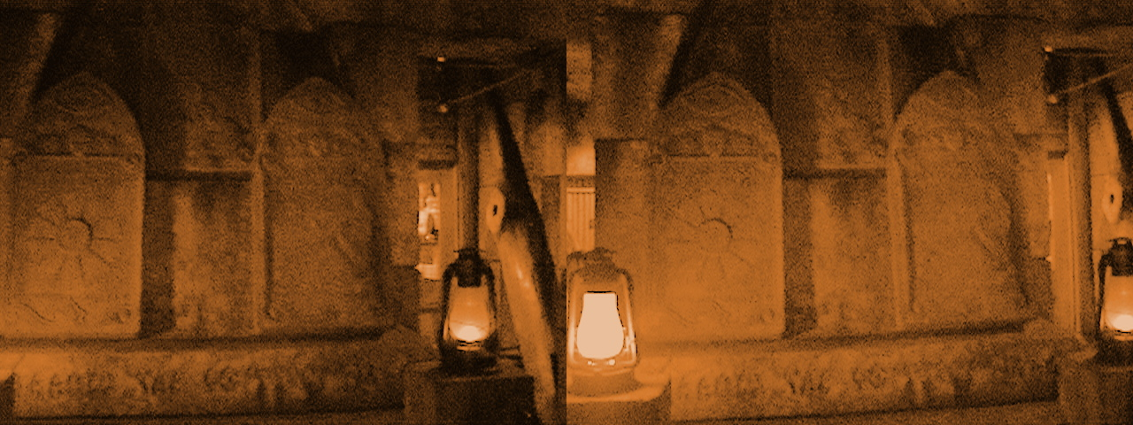 3D, Altar of the Stone Tablets, Queue, Indiana Jones™ Adventure - The Temple of the Forbidden Eye, Adventureland, Disneyland®, Anaheim, California, enhanced Color, 2009.02.23 13:56