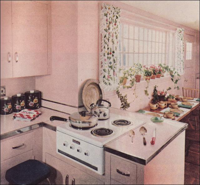 Royal Blue Kitchen Design: 1951 Petal Pink Kitchen By Royal Barry Wills