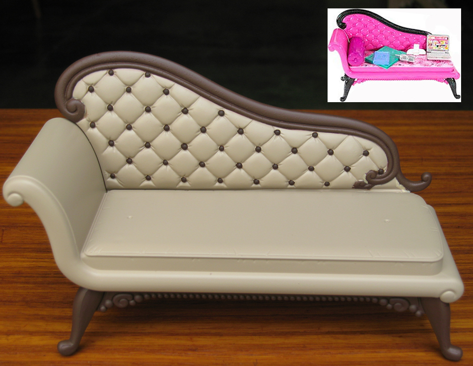 Fainting couch re paint flickr photo sharing for Small fainting couch