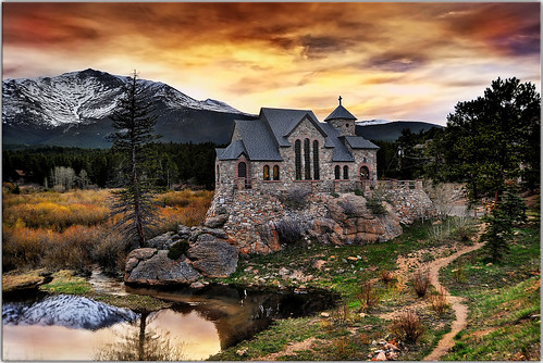 sunset church rural scenery colorado searchthebest rockymountains hdr rockymountainnationalpark longlivemitch