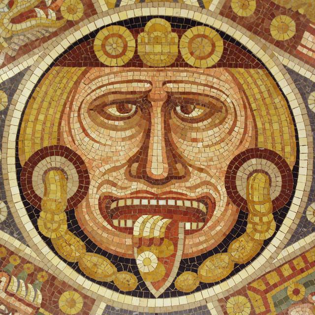 Tonatiuh, Aztec Sun God | Aztec Sun Stone mosaic Rose ...