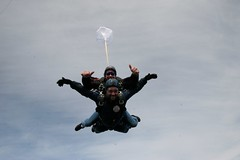 parachute(1.0), tandem skydiving(1.0), air sports(1.0), sports(1.0), parachuting(1.0), windsports(1.0), extreme sport(1.0),