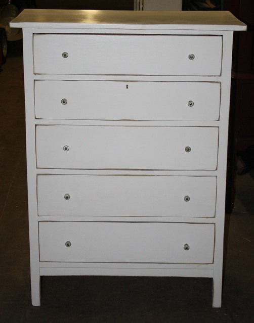 Tall White Distressed Dresser Flickr Photo Sharing