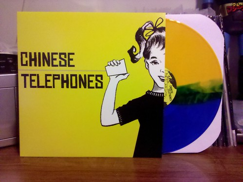 Chinese Telephones - S/T LP - Blue / Yellow Split Vinyl