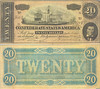 1864 $20 Confederate States of America by Randy_K