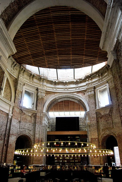 Uned escuelas p as biblioteca interior iglesia 10809 for Biblioteca uned madrid