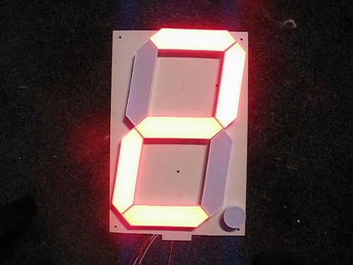 Single-digit clock demo