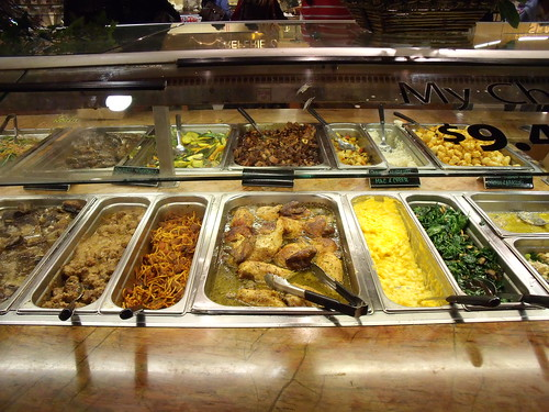 A gross-looking buffet.