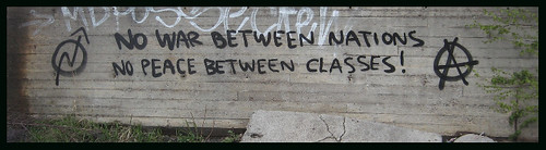 No war between nations, no peace between classes