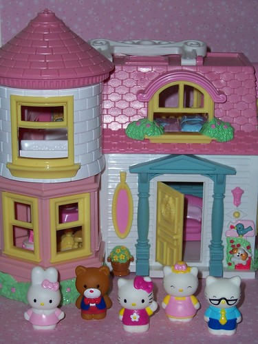 Hello Kitty Toy House : Hello kitty victorian doll house with sound sanrio a