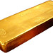 Whole gold bar on white