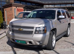 pickup truck(0.0), truck(0.0), chevrolet avalanche(0.0), chevrolet(1.0), automobile(1.0), automotive exterior(1.0), sport utility vehicle(1.0), wheel(1.0), vehicle(1.0), compact sport utility vehicle(1.0), chevrolet tahoe(1.0), chevrolet suburban(1.0), bumper(1.0), land vehicle(1.0), luxury vehicle(1.0),