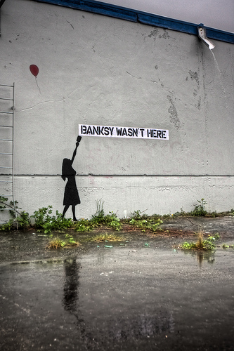 BANKSY WASN'T HERE