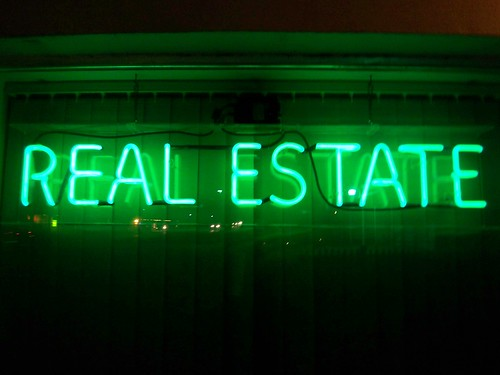 Neon Real Estate Sign