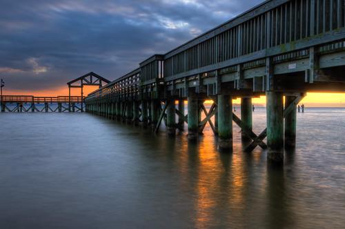 sun water weather clouds sunrise reflections virginia pier wideangle tokina1224 tokina potomac leesylvania stateparks d300