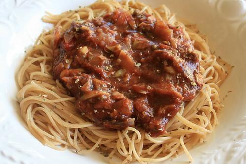 Vegan Fat-Free Chunky Spaghetti Sauce