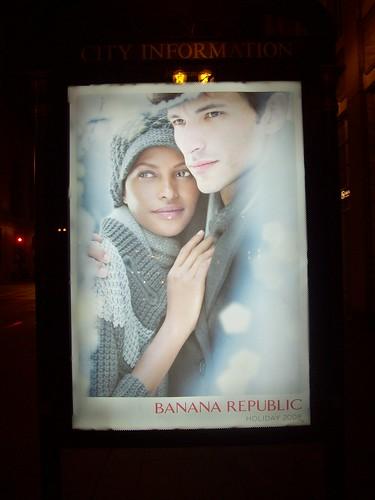 Interracial Couple Ad for Banana Republic