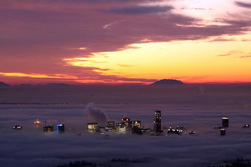 fog vancouver clouds sunrise cypress
