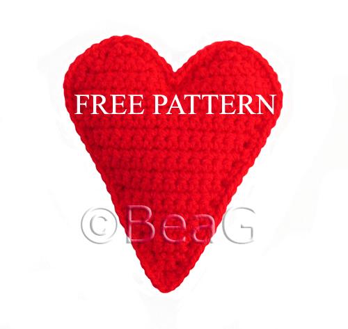 Pattern for Crocheted Heart (Patroon voor Gehaakt Hart)
