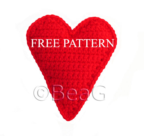 CROCHET HEART PATTERN RED - Crochet Club