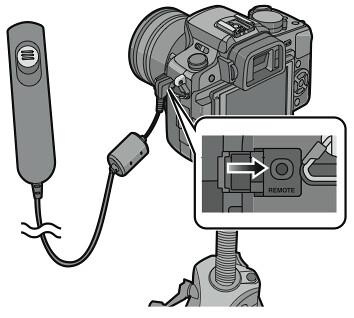 The remote socket on the Panasonic Lumix DMC-G1 (credit: Panasonic G1 manual)