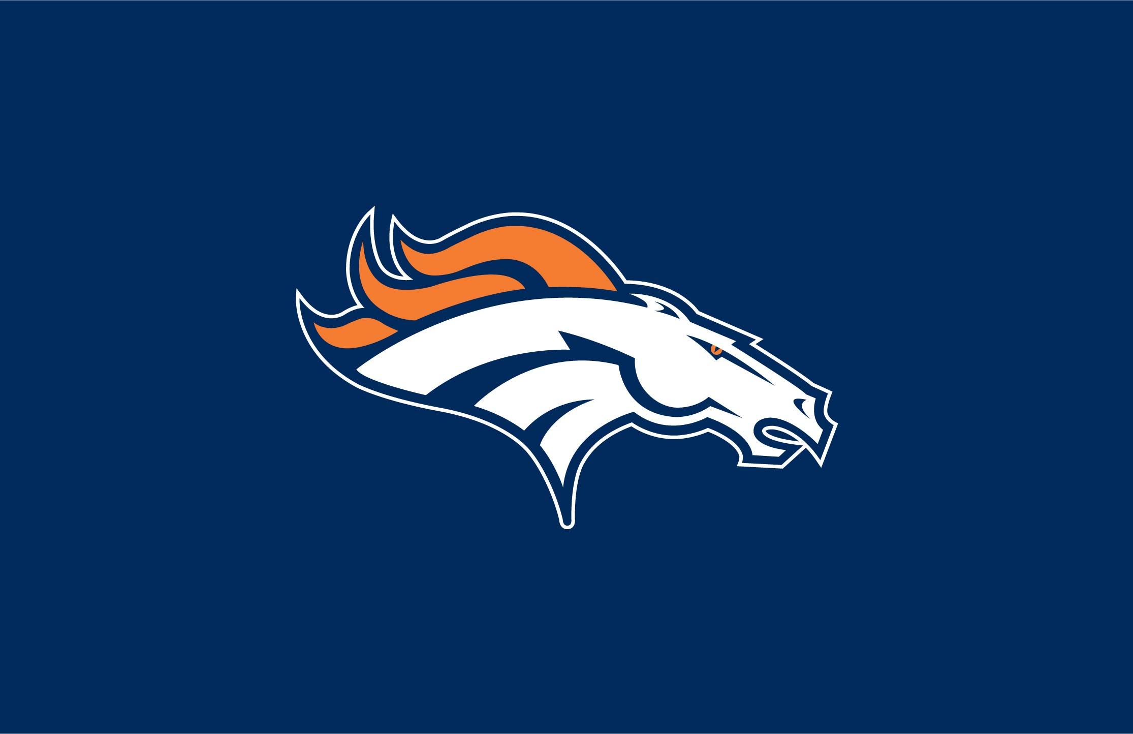 Football logo coloring pages printable for Denver broncos colors