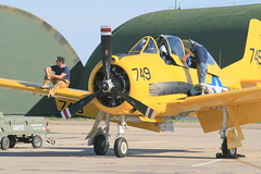 aviation, military aircraft, airplane, propeller driven aircraft, vehicle, north american t-28 trojan, aircraft engine, air force,