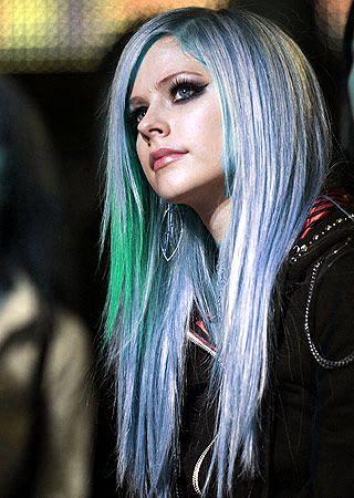 avril lavigne blue hair flickr   photo sharing