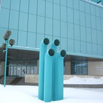 Symbolic pipes near Gazprom regional office