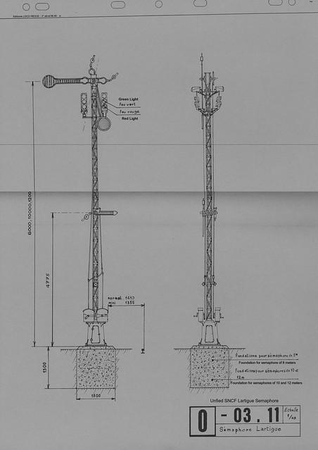sncf lartigue semaphore signal diagram - plan de la s u00e9maphore lartigue de la sncf