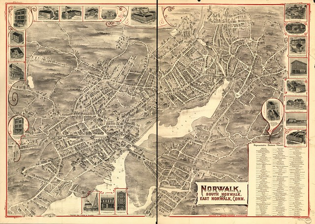Norwalk (OH) United States  city photo : View of Norwalk, South Norwalk, and East Norwalk, Conn. 1899.