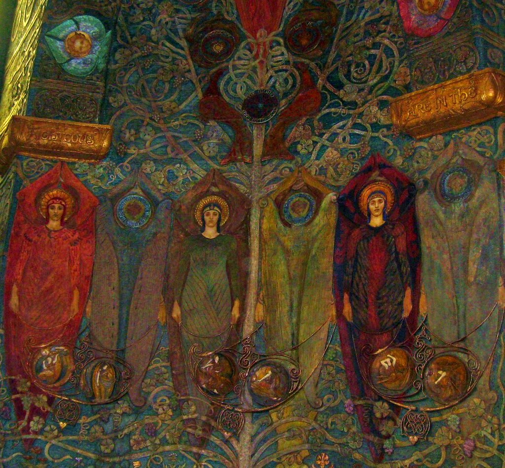 Watts Chapel Interior This is an incredible little chapel built by Frederick Watts' wife in a mix of Arts and Craft, Celtic and Byzantine styles to name a few. Wanborough to Godalming