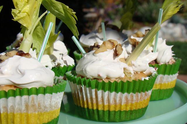 Savory Stuffed Celery Pop Cupcakes   Flickr - Photo Sharing!