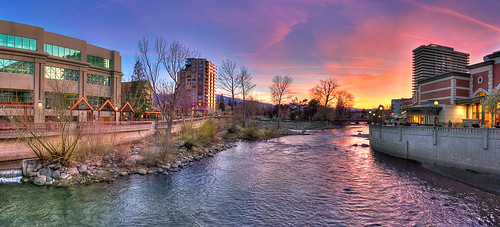 sunset water clouds canon river landscape downtown nevada reno riverwalk truckeeriver renotahoe 40d