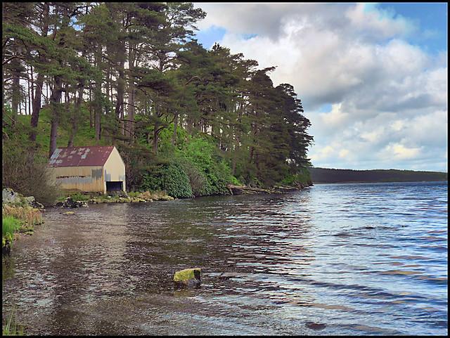 Loch Grannoch boathouse