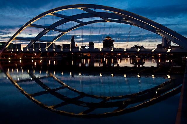 Douglass-Anthony Bridge with Reflection