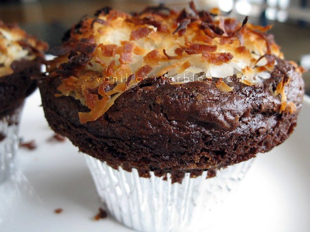 coconut-chocolate muffins
