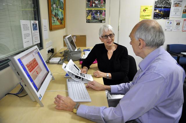 Broadband for Seniors kiosk