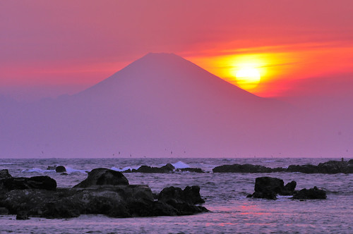Mt Fuji, Sunset