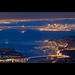 San Francisco by night from the Mount Tamalpais - CA by Dominique Palombieri