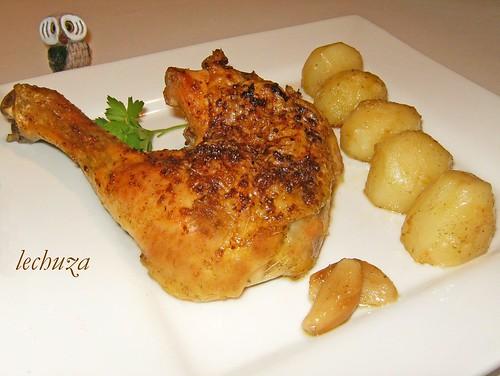 La cocina de lechuza recetas de cocina con fotos paso a - Pollo al horno con limon y patatas ...