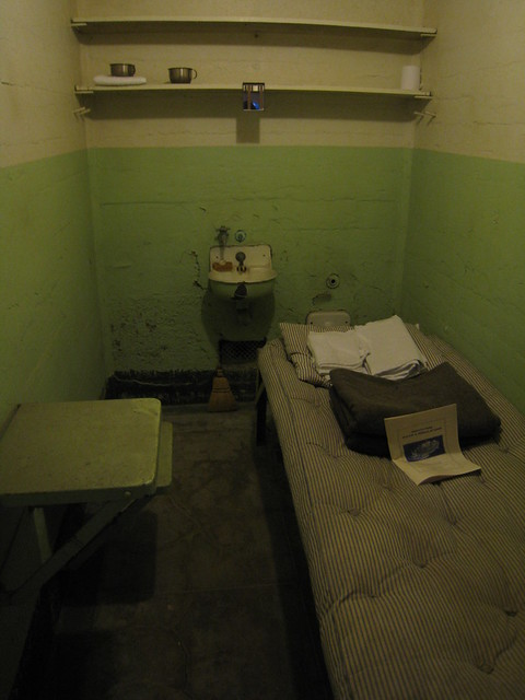 An Alcatraz cell ready for occupation