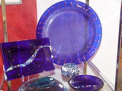 Glass Artwork Dishes in Downtown Lafayette - West Lafayette, Indiana